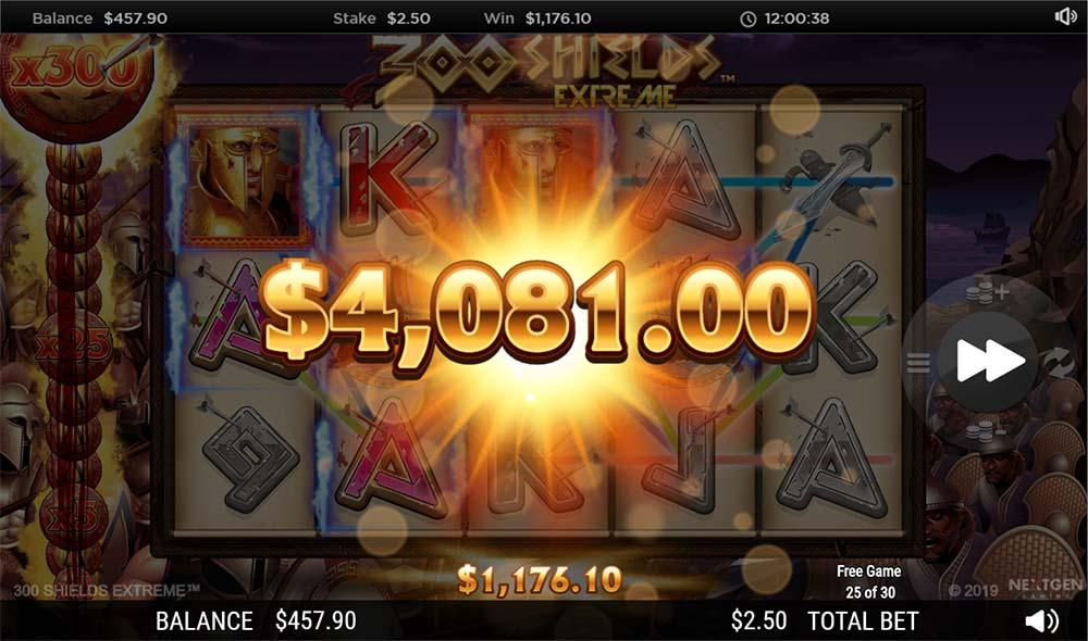 300 Shields Extreme Slot - 300x Multiplier Win