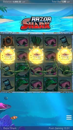Razor Shark Mobile Bonus Trigger