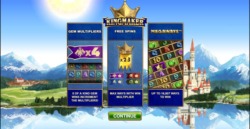 Kingmaker Slot - Intro Screen