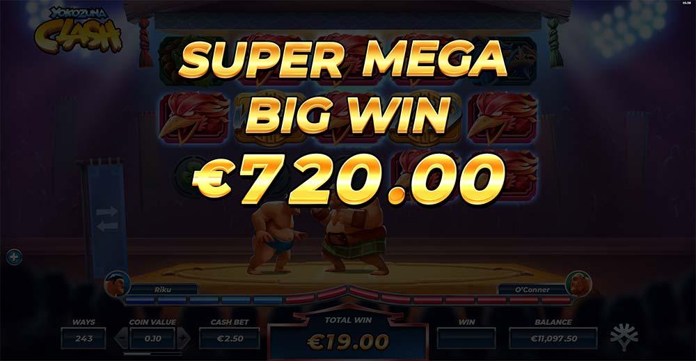 Yokozuna Clash Slot - Super Mega Big Win