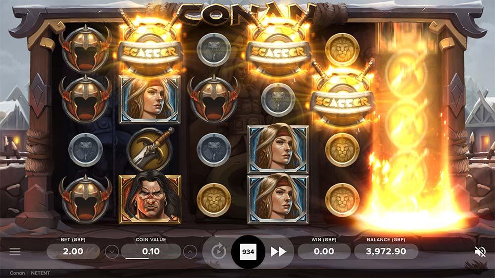 Conan Slot - Bonus Triggered