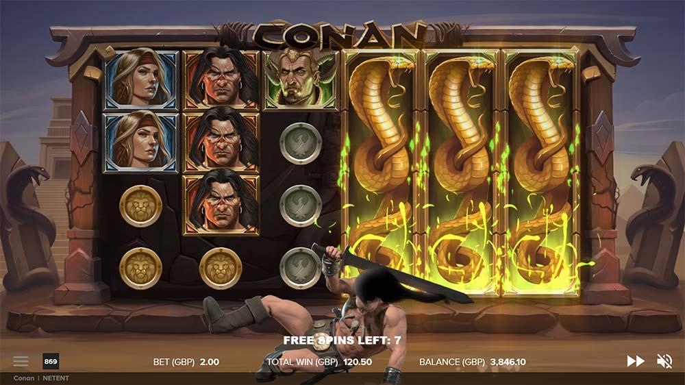 Conan Slot - Stacked Mystery Symbols