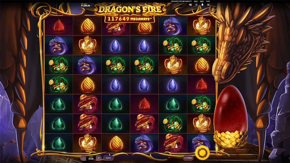 Dragon's Fire Megaways Slot - Base Game