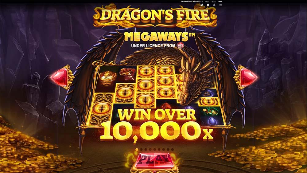 Dragon's Fire Megaways Slot - Intro Screen