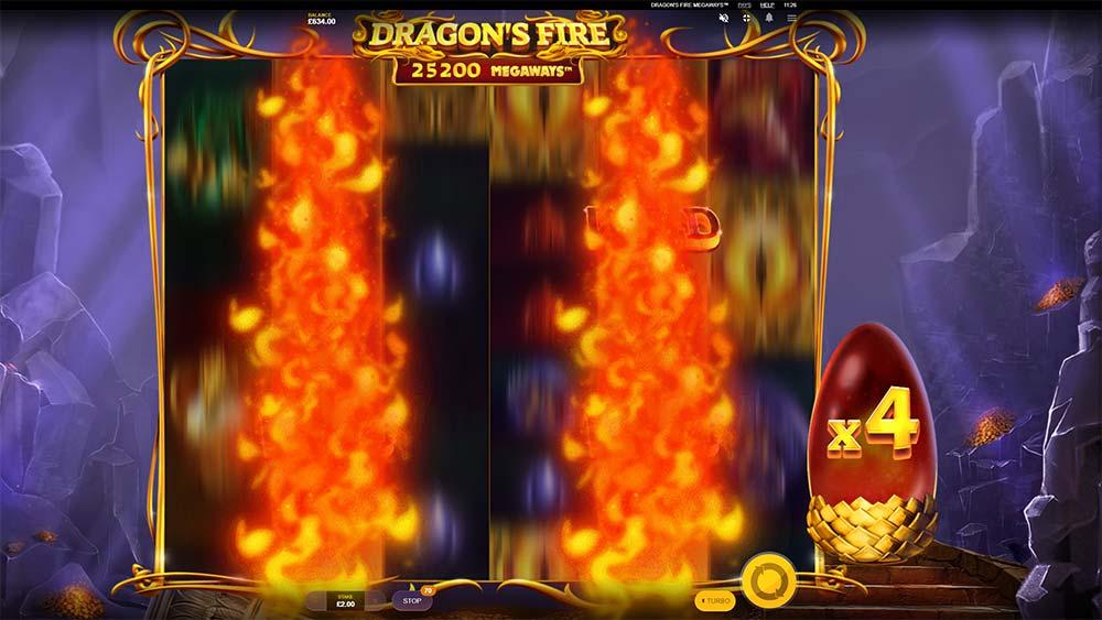 Dragon's Fire Megaways Slot - Fire Blast Feature