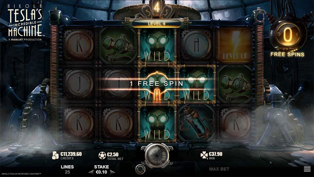 Nikola Tesla's Incredible Machine Slot - Added Wilds