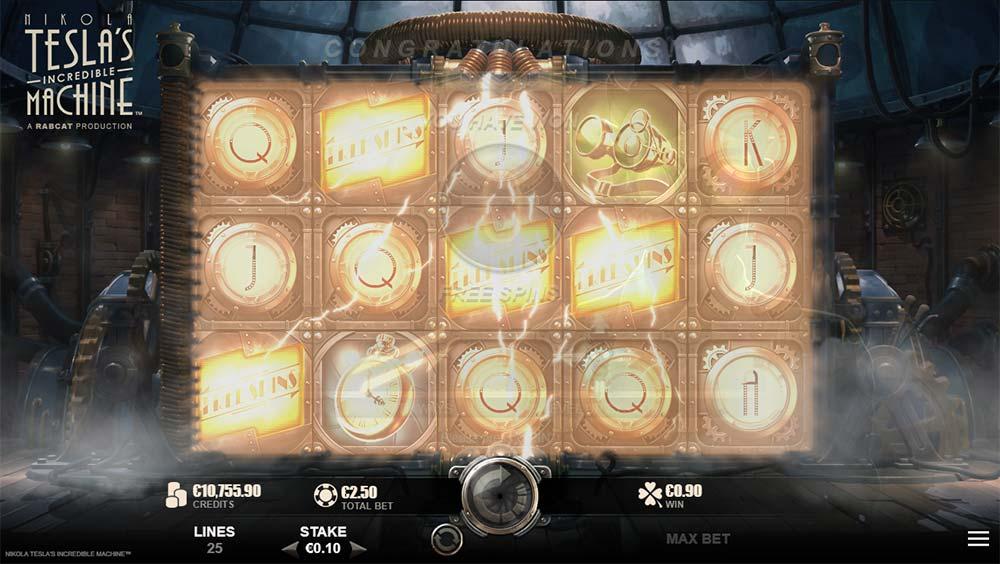 Nikola Tesla's Incredible Machine Slot - Bonus Trigger