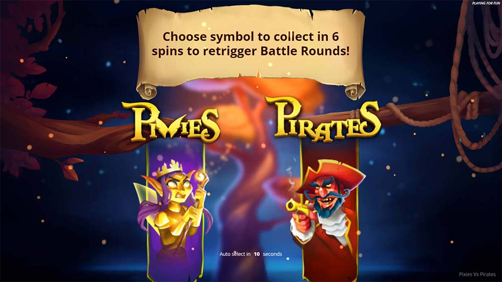 Pixies vs Pirates Slot - Free Spin Symbol Collection