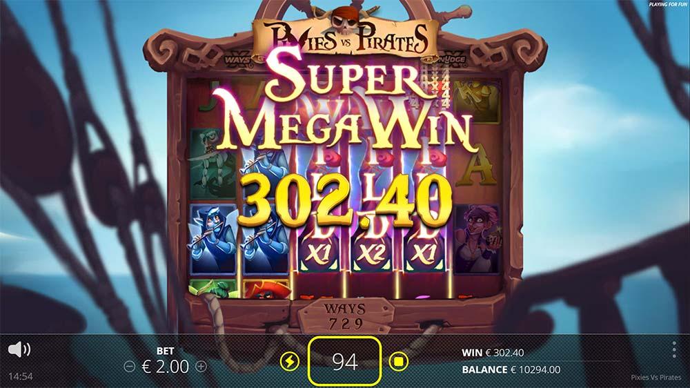 Pixies vs Pirates Slot - Super Mega Win
