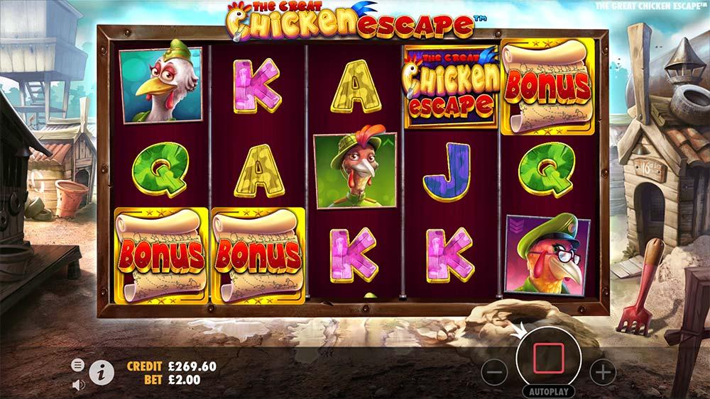 The Great Chicken Escape Slot - Bonus Trigger