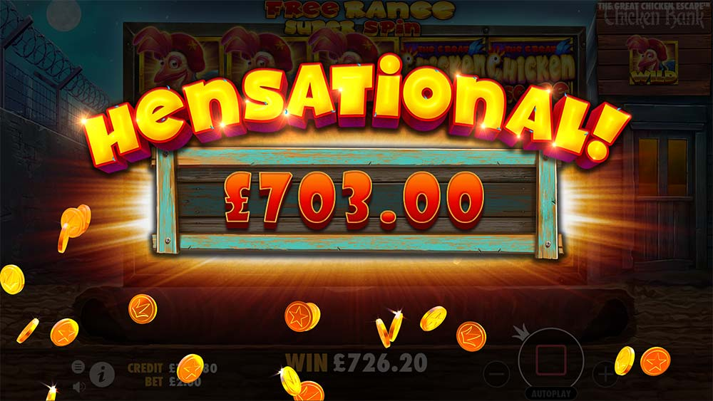 The Great Chicken Escape Slot - Hensational Win