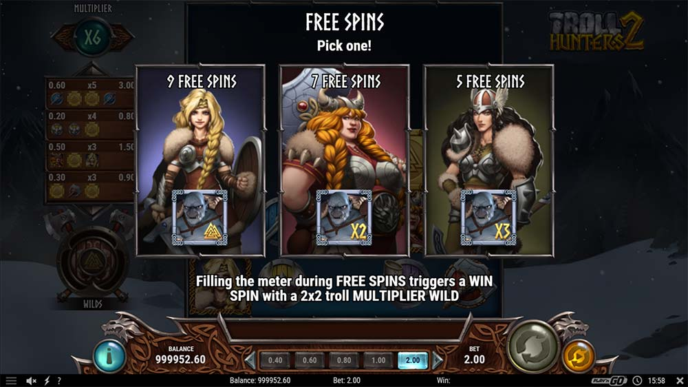 Troll Hunters 2 Slot - Free Spins Selection