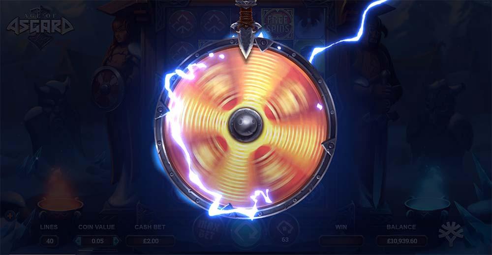 Age of Asgard Slot - Bonus Wheel