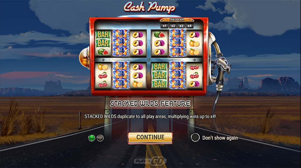 Cash Pump Slot - Intro Screen