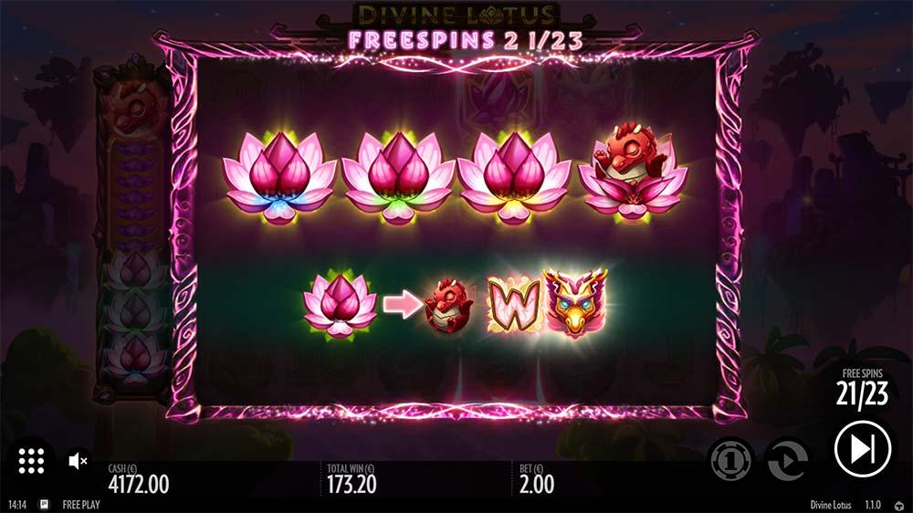Divine Lotus Slot - Symbol Upgrades