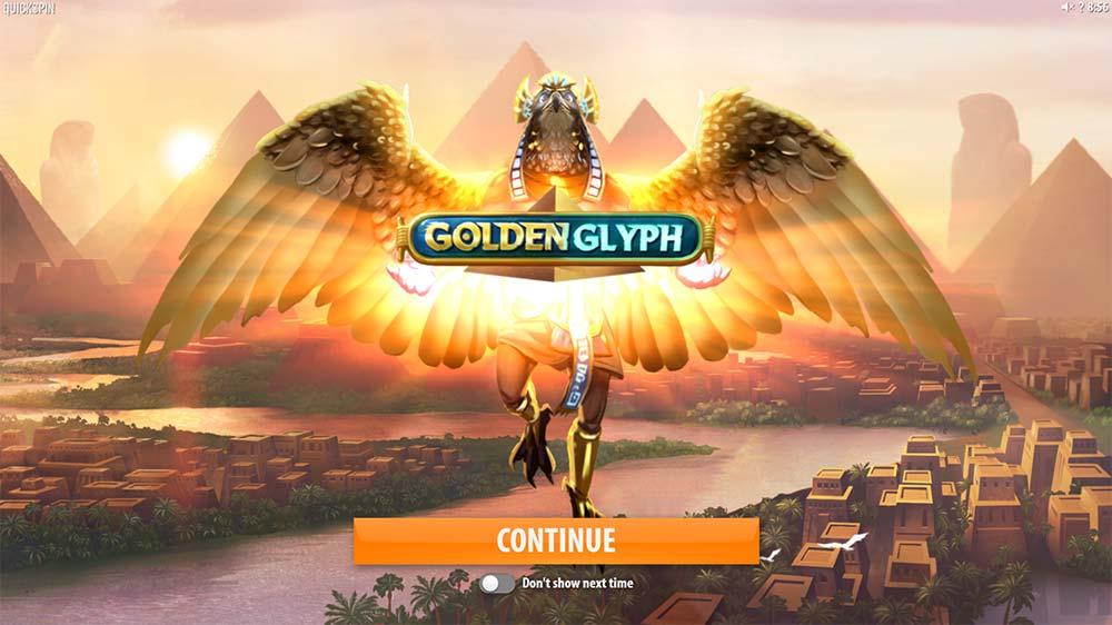 Golden Glyph Slot - Intro Screen