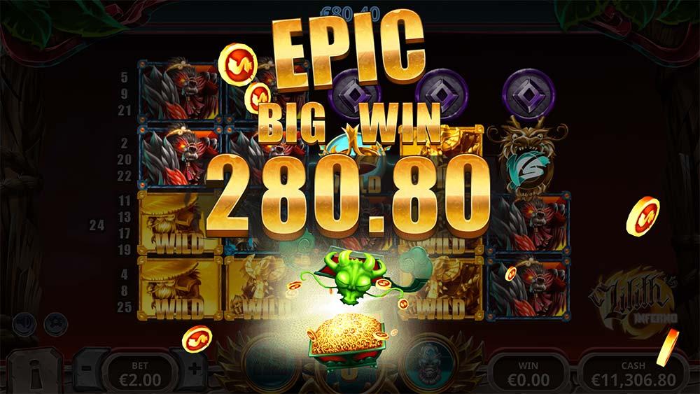 Lilith's Inferno Slot - Epic Big Win