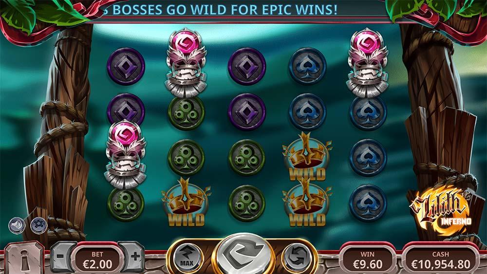 Lilith's Inferno Slot - Bonus Triggered