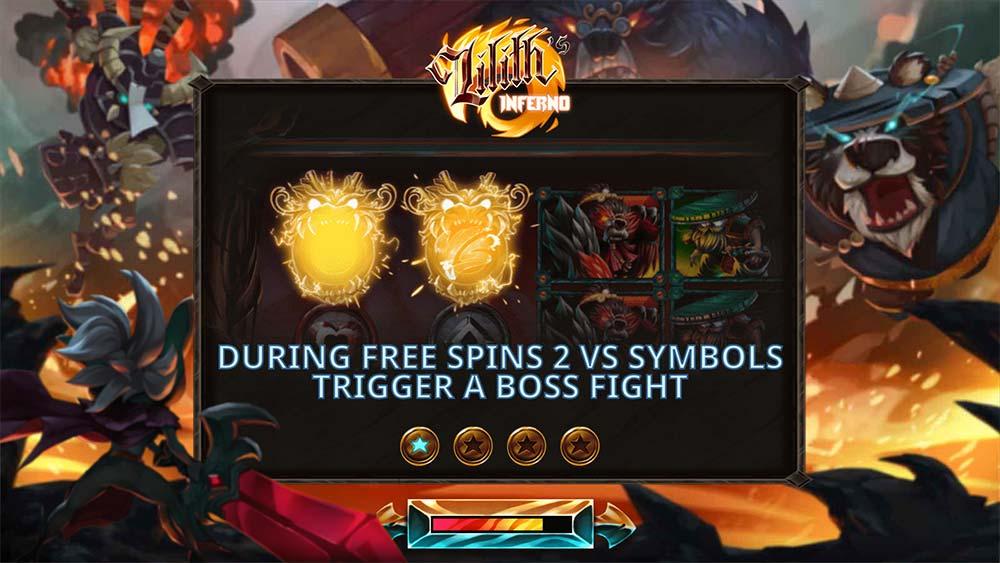 Lilith's Inferno Slot - Intro Screen