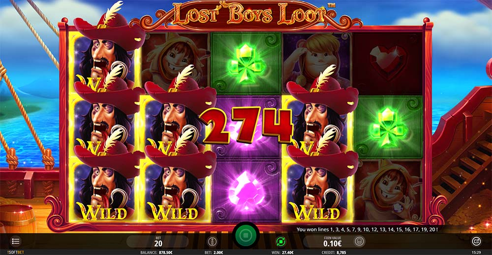 Lost Boys Loot Slot - Tink's Touch Feature