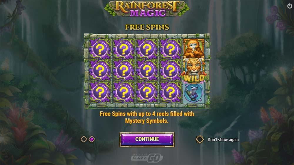 Rainforest Magic Slot - Intro Screen