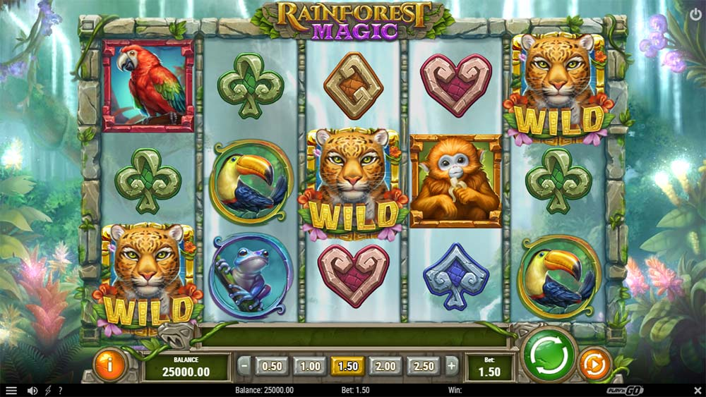 Rainforest Magic Slot - Base Game