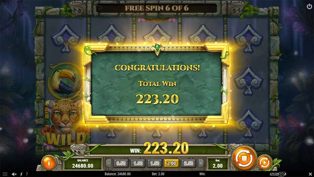 Rainforest Magic Slot - Bonus End