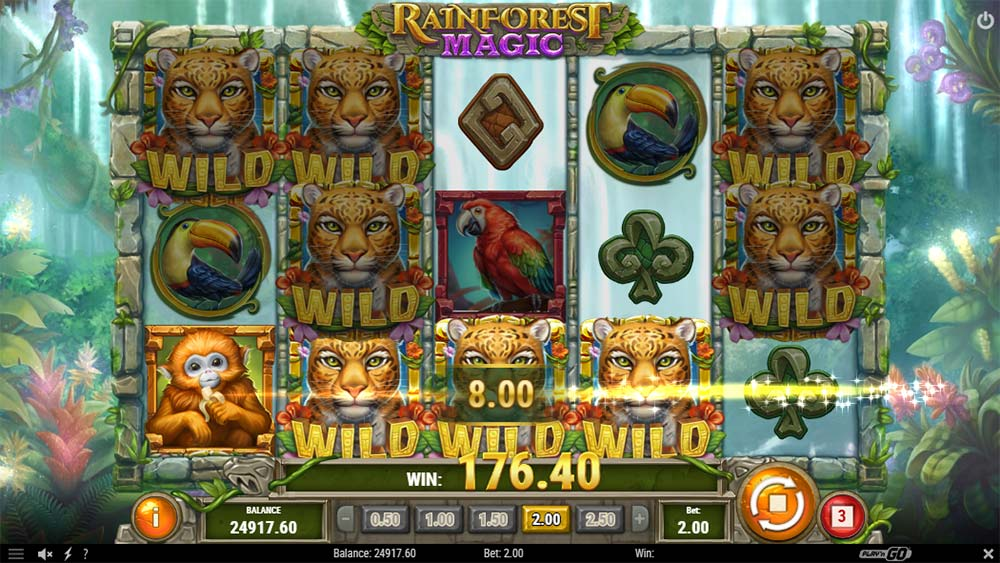 Rainforest Magic Slot - Base Game Big Win