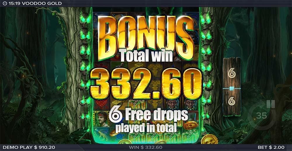 Voodoo Gold Slot - Bonus End