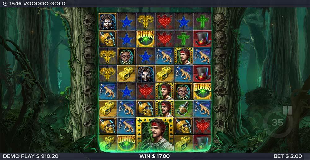 Voodoo Gold Slot - Bonus Triggered
