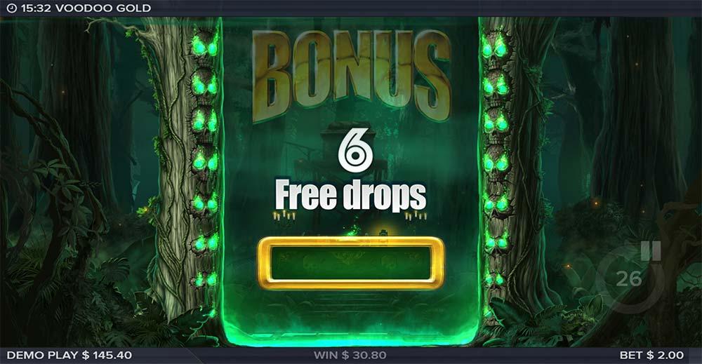 Voodoo Gold Slot - Free Drops Awarded