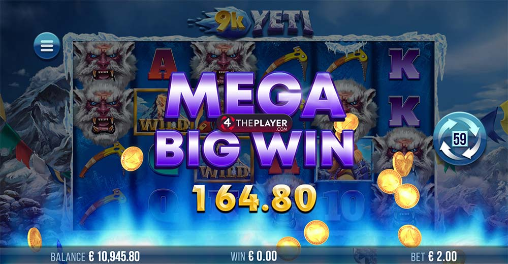 9K Yeti Slot - Mega Big Win Base Game