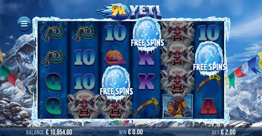 9K Yeti Slot - Free Spins Trigger