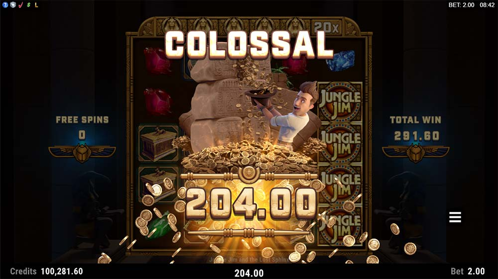Jungle Jim and the Lost Sphinx Slot - Colossal Win