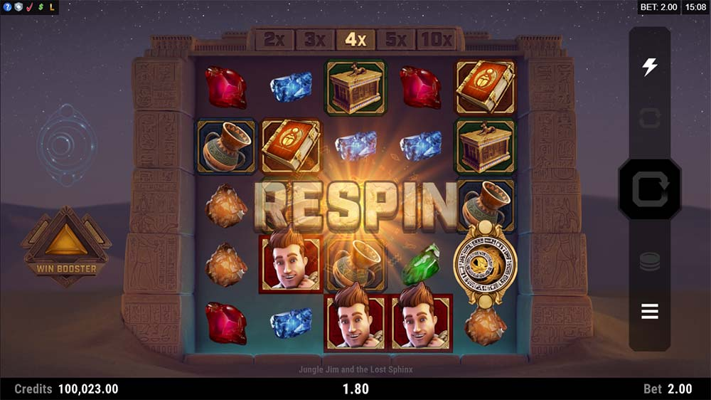 Jungle Jim and the Lost Sphinx Slot - Respin Feature