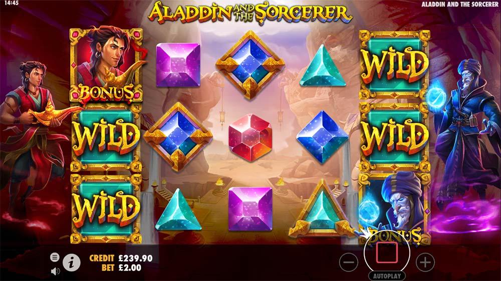 Aladdin and the Sorcerer Slot - Bonus Trigger