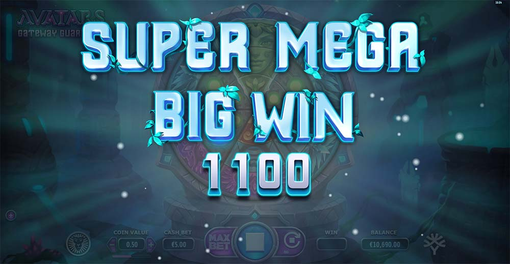 Avatars Gateway Guardians Slot - Super Mega Big Win