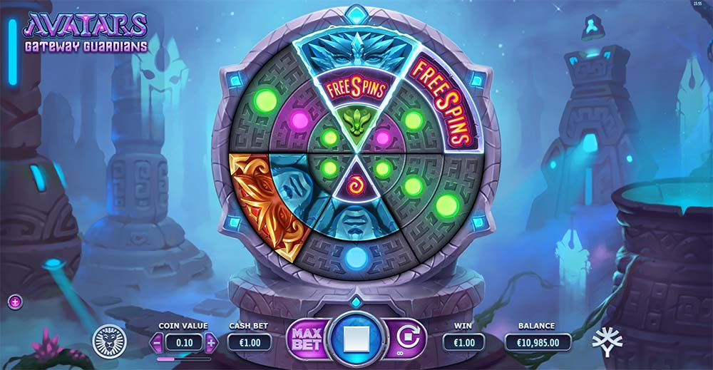 Avatars Gateway Guardians Slot - Free Spins Trigger