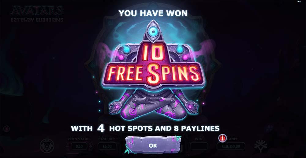 Avatars Gateway Guardians Slot - Bonus Start