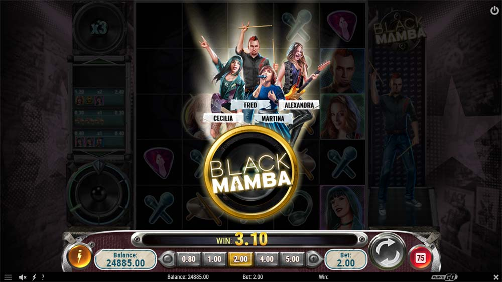 Black Mamba Slot - Concert Feature