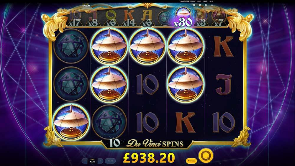 Da Vinci's Mystery Slot - Rising Multipliers