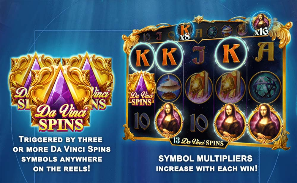 Da Vinci's Mystery Slot - Free Spins Feature