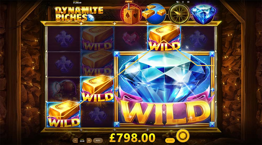 Dynamite Riches Slot - Mega Wild and Multiplier