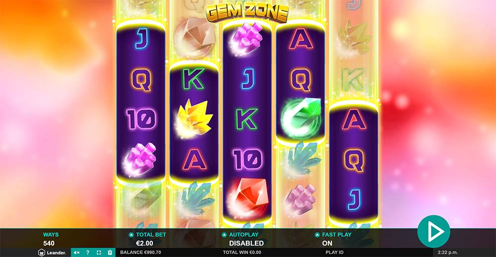 Gem Zone Slot - Base Game