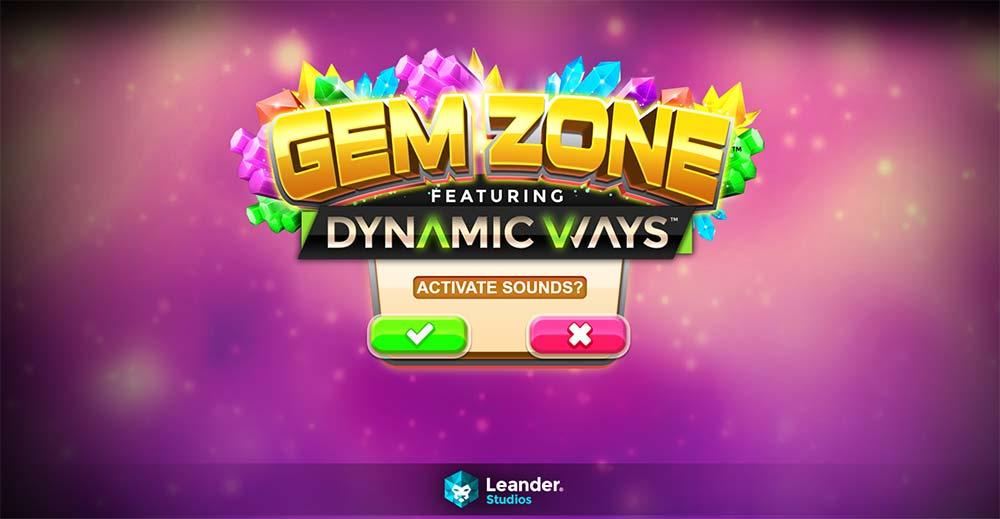 Gem Zone Slot - Intro Screen