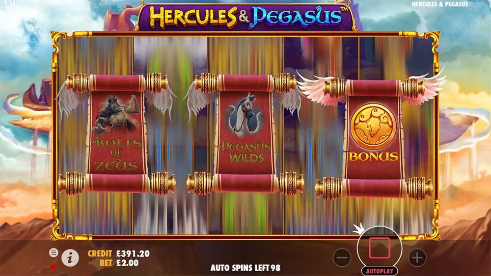Hercules and Pegasus Slot - Bonus Features