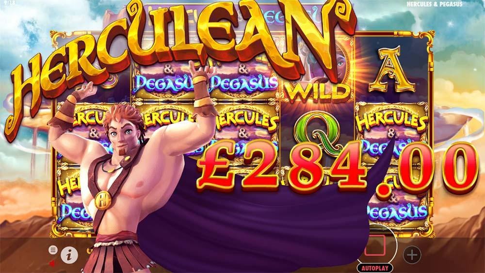 Hercules and Pegasus Slot - Big Win