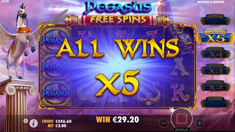 Hercules and Pegasus Slot - Pegasus Free Spins