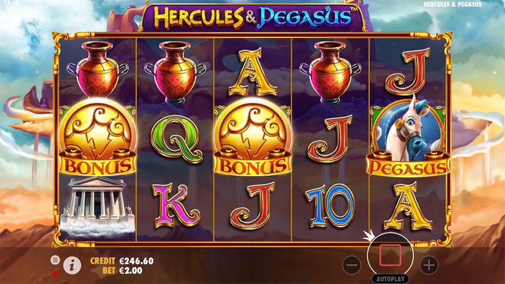 Hercules and Pegasus Slot - Bonus Triggered