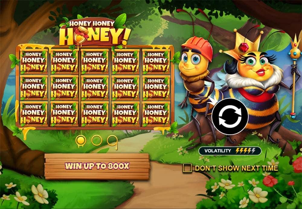 Honey Honey Honey Slot - Intro Screen